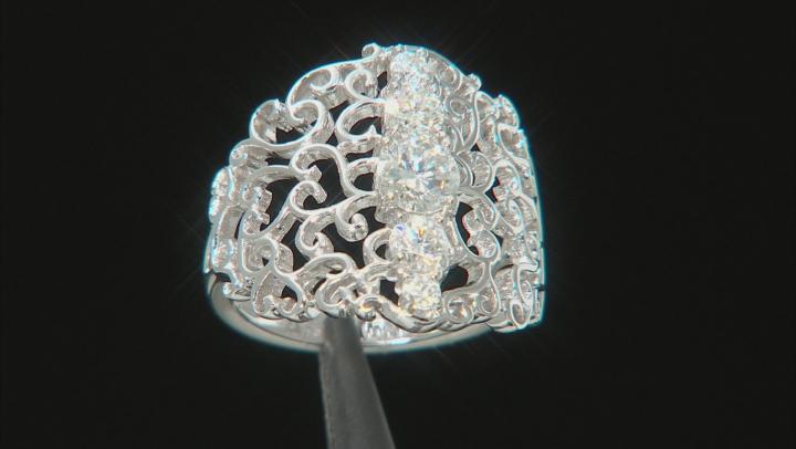 Moissanite Platineve Ring 1.18ctw DEW