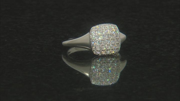 Moissanite Platineve Ring .72ctw DEW