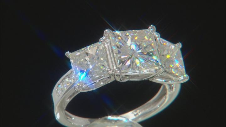 Moissanite Platineve Ring 6.68ctw D.E.W