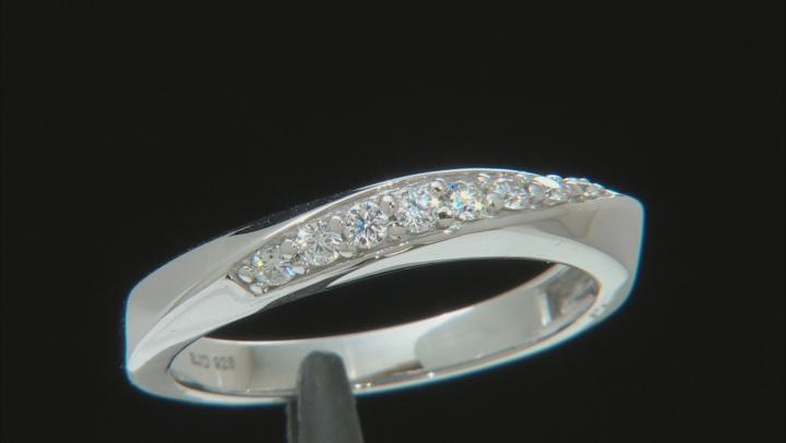 Moissanite Platineve Ring .24ctw D.E.W