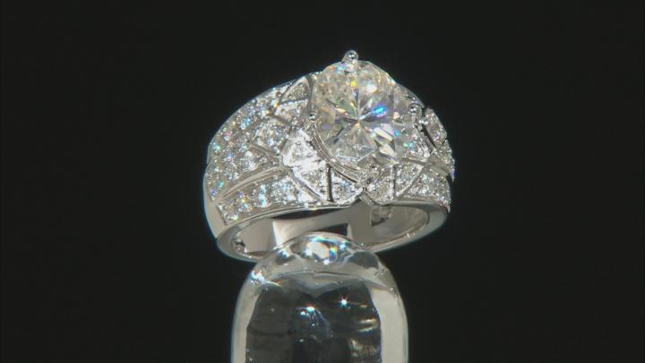Moissanite Platineve Ring 5.04ctw D.E.W
