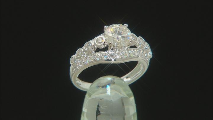 Moissanite Platineve Ring 1.84ctw D.E.W