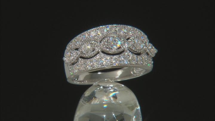 Moissanite Platineve Ring .94ctw DEW.