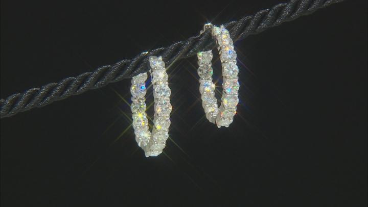 Moissanite Platineve Hoop Earrings 9.24ctw DEW.