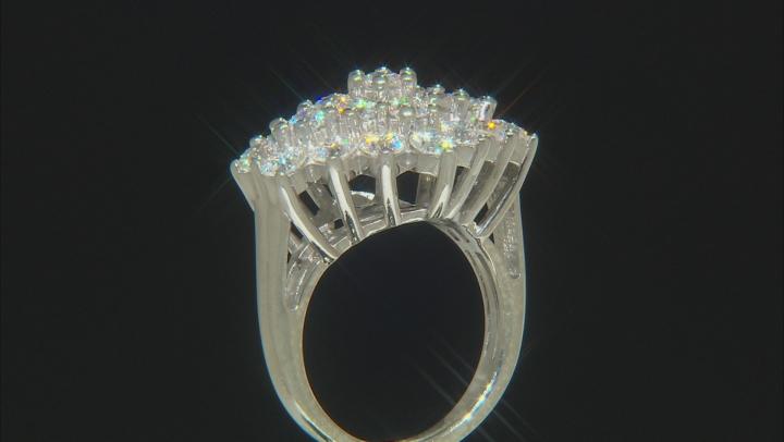 Moissanite Platineve ring 3.22ctw DEW.