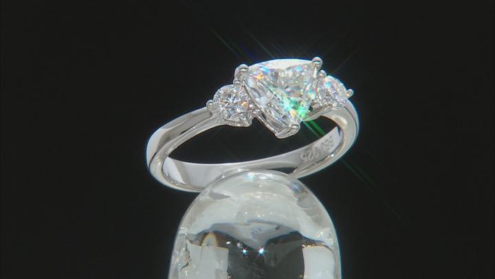 Moissanite Platineve Ring 1.26ctw DEW