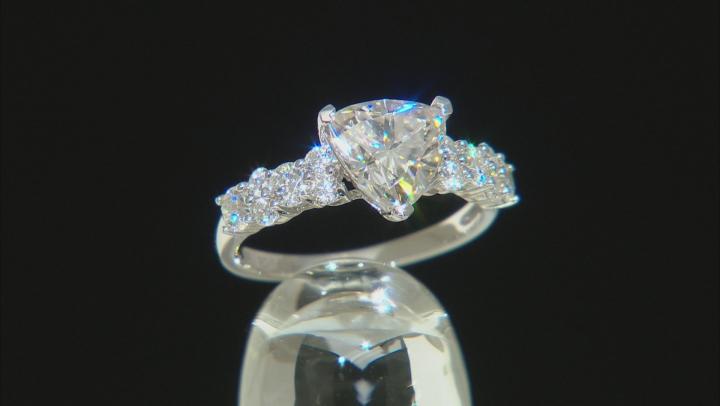 Moissanite Platineve Ring 2.24ctw DEW