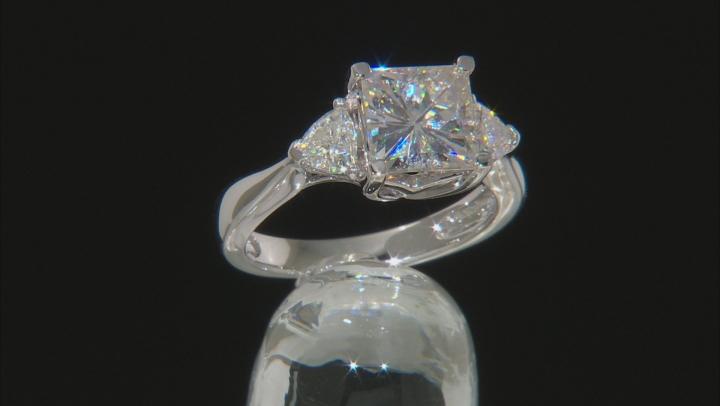 Moissanite Platineve Ring 3.10ctw D.E.W