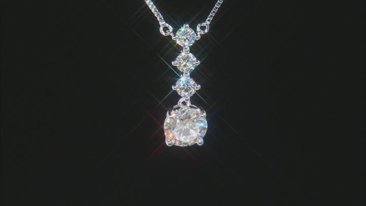 Moissanite Platineve Necklace 1.98ctw DEW