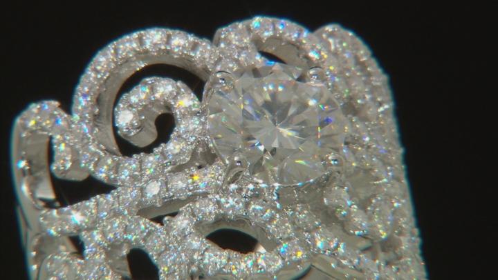 Moissanite Platineve Ring 2.62ctw DEW