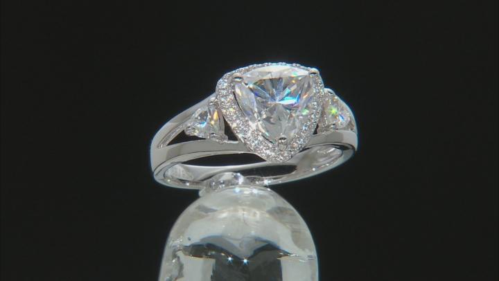 Moissanite Platineve Ring 2.09ctw DEW.