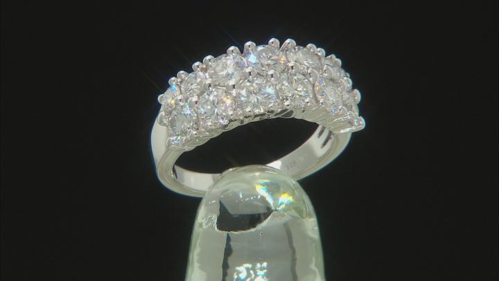 Moissanite Platineve Ring 2.47ctw DEW.