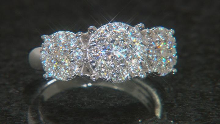 Moissanite Platineve ring 1.51ctw DEW.