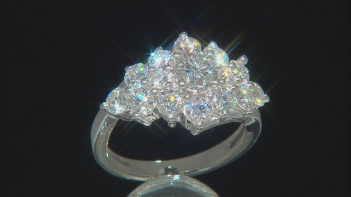 Moissanite Platineve ring 2.64ctw DEW.