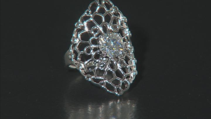 Moissanite Platineve ring 1.50ct DEW.