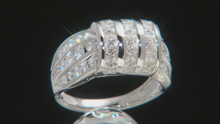 Moissanite Platineve Ring 2.54ctw DEW