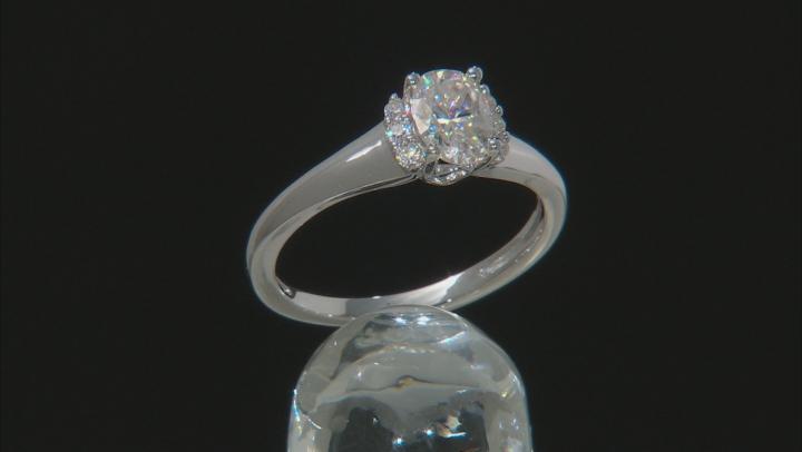 Moissanite Platineve Ring 1.02ctw DEW.