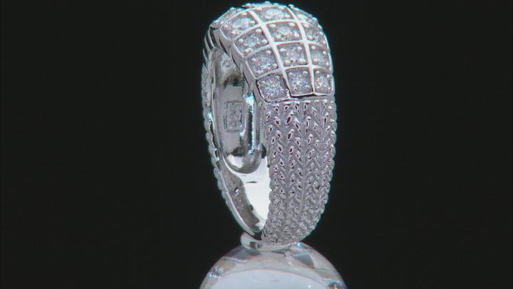 Moissanite Platineve Ring .84ctw DEW.