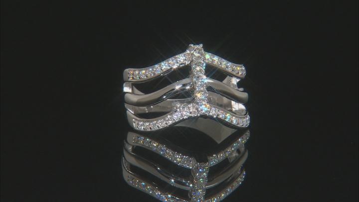 Moissanite Platineve Ring .62ctw DEW