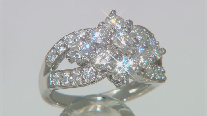 Moissanite Platineve ring 2.55ctw DEW
