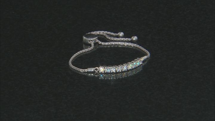 Moissanite Platineve Adjustable Bolo Bracelet 1.17ctw DEW.