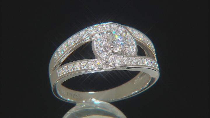 Moissanite Platineve Ring .67ctw DEW.