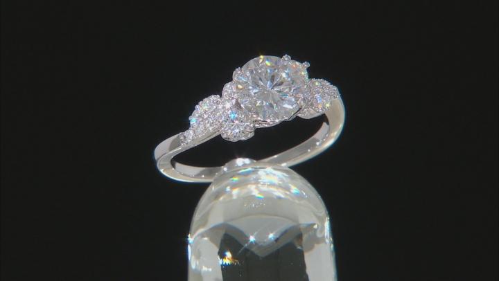 Moissanite Platineve Ring 1.90ctw DEW.