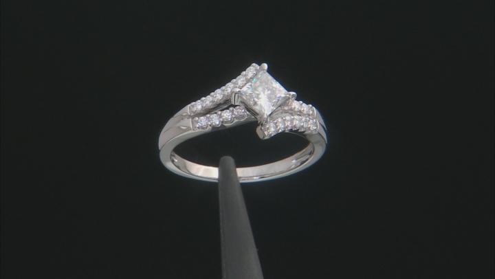 Moissanite Platineve Ring 1.24ctw DEW.