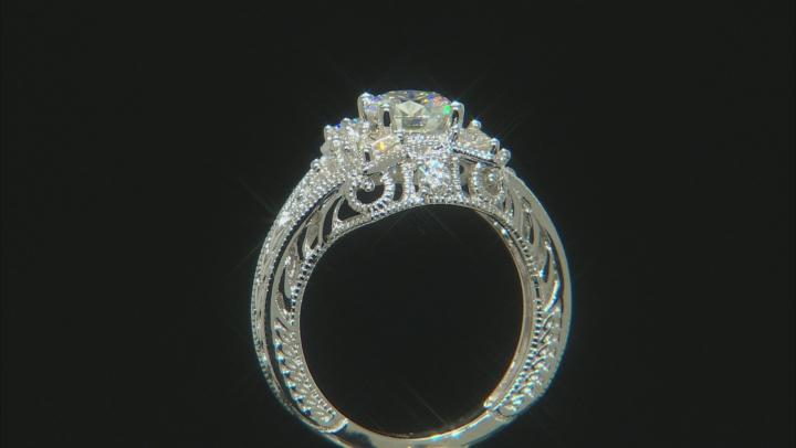 Moissanite Platineve Ring 1.80ctw DEW.