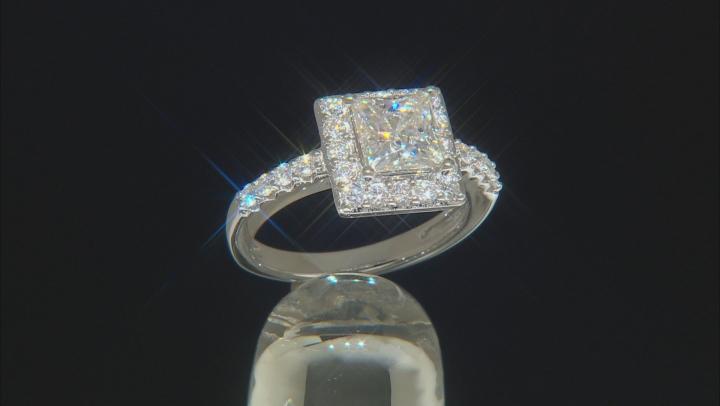 Moissanite Platineve Ring 2.42ctw DEW.