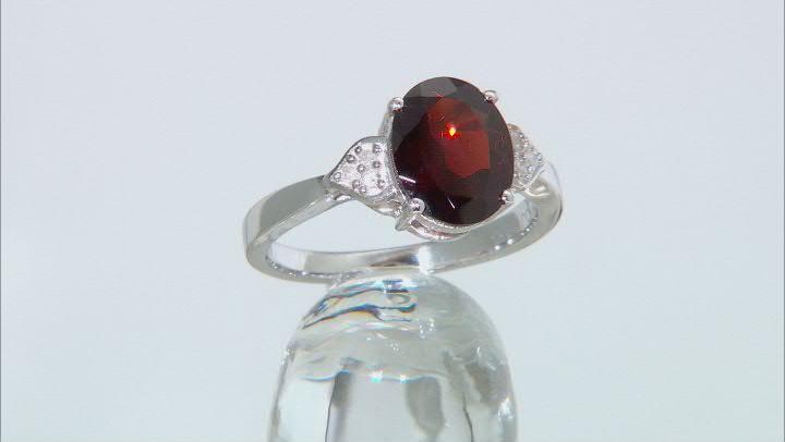 Red Garnet Rhodium Over Silver Ring 2.43ctw