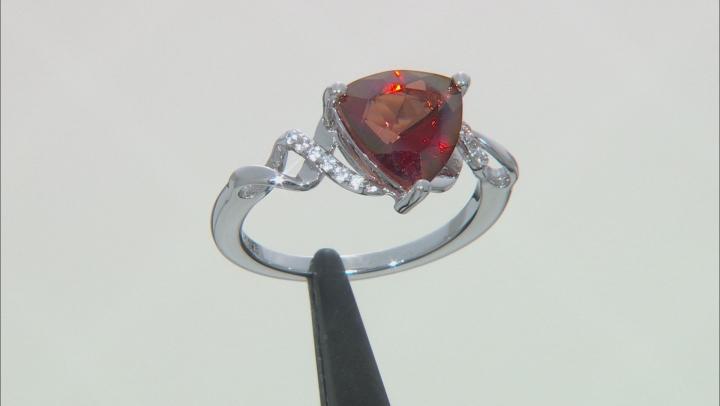 Red Labradorite Rhodium Over Silver Ring 1.92ctw