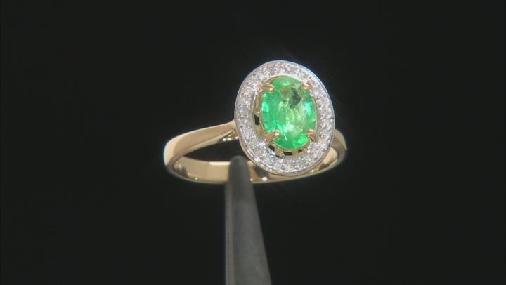 Green Ethiopian Emerald 10K Gold Ring 1.05ctw