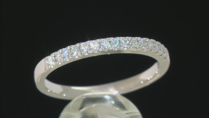 Womens Wedding Band Style Ring White Moissanite .23ctw DEW Round Platineve
