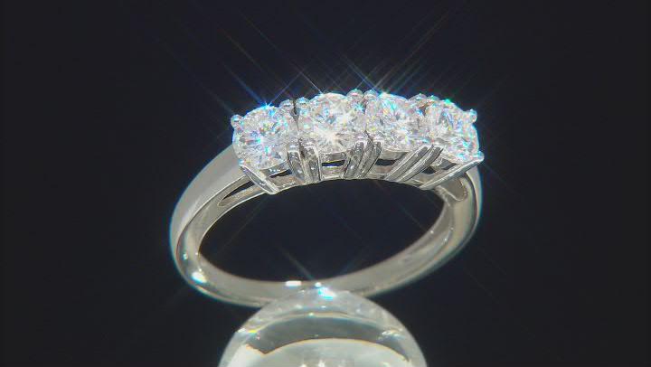 Moissanite Platineve Ring 1.30ctw DEW.