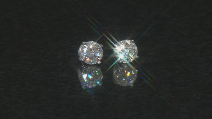 Moissanite Fire® 2.40ctw Diamond Equivalent Weight Round 14k White Gold Stud Earrings