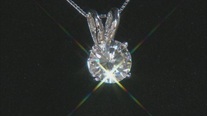 Moissanite Pendant 14k White Gold 1.50ct DEW.