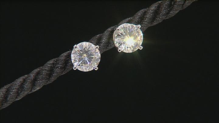 Moissanite Fire® 3.80ctw Diamond Equivalent Weight Round 14k White Gold Stud Earrings