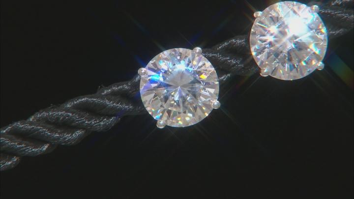 Moissanite 14k White Gold Stud Earrings 5.40ctw DEW.