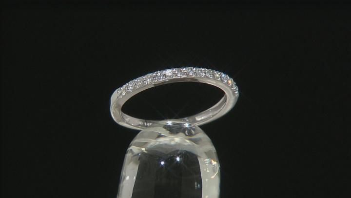 Moissanite 14k White Gold Ring .15ctw DEW