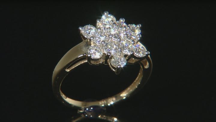 Moissanite 14k Yellow Gold Ring 1.36ctw D.E.W