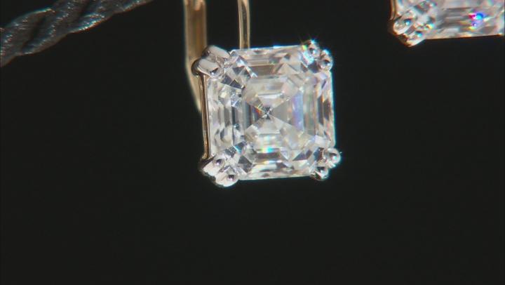 Moissanite 14k yellow gold earrings 5.92ctw DEW