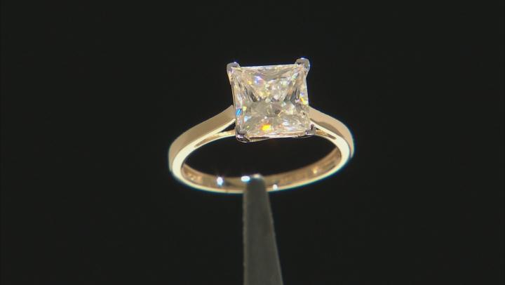 Moissanite 14k Yellow Gold Ring 2.80ct DEW.