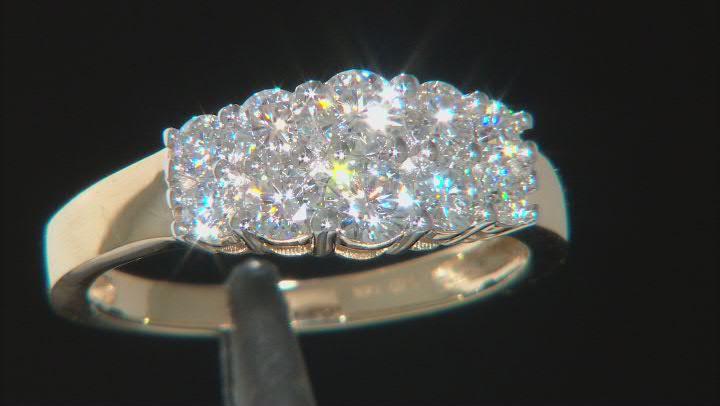 Moissanite 14k Yellow Gold Ring .96ctw DEW