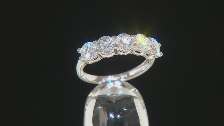 Moissanite 14k White Gold Ring 1.65ctw DEW.