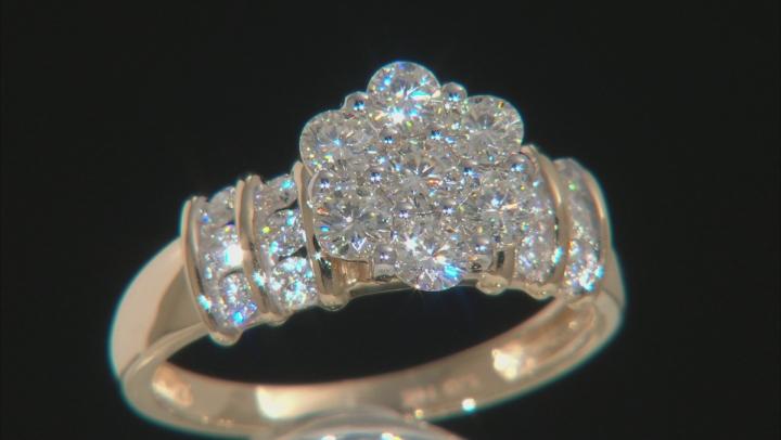 Moissanite 14k Yellow Gold Ring 1.06ctw D.E.W