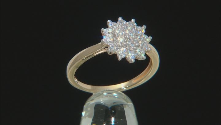 Moissanite 14k Yellow Gold Ring .76ctw D.E.W