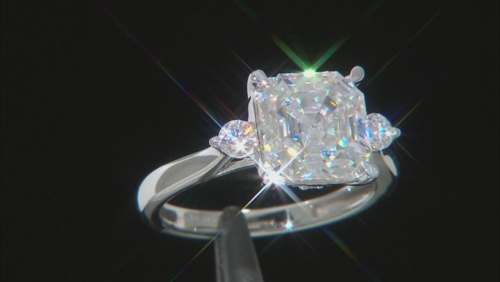 Moissanite 14K white gold ring 4.38ctw DEW.