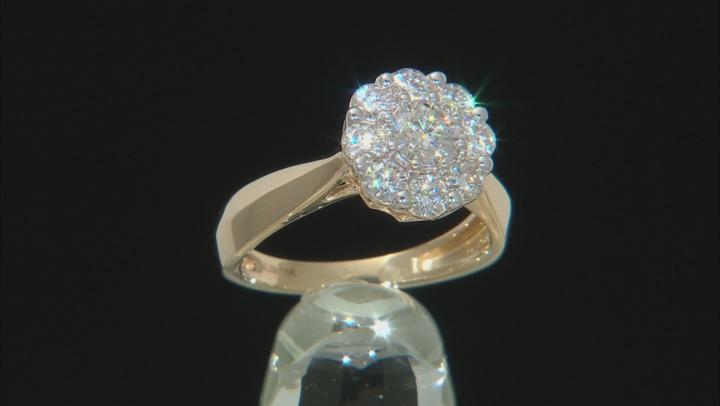 Moissanite 14k Yellow Gold Ring 1.30ctw DEW.