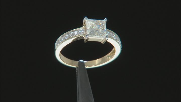 Moissanite 14k Yellow Gold Ring 1.48ctw DEW.